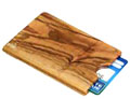 Credit Card Case in Olive Tree Wood